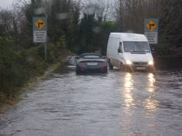 Flooded Road Ireland